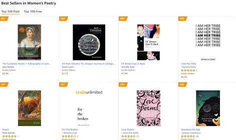 jennifer juan best seller womens poetry chart